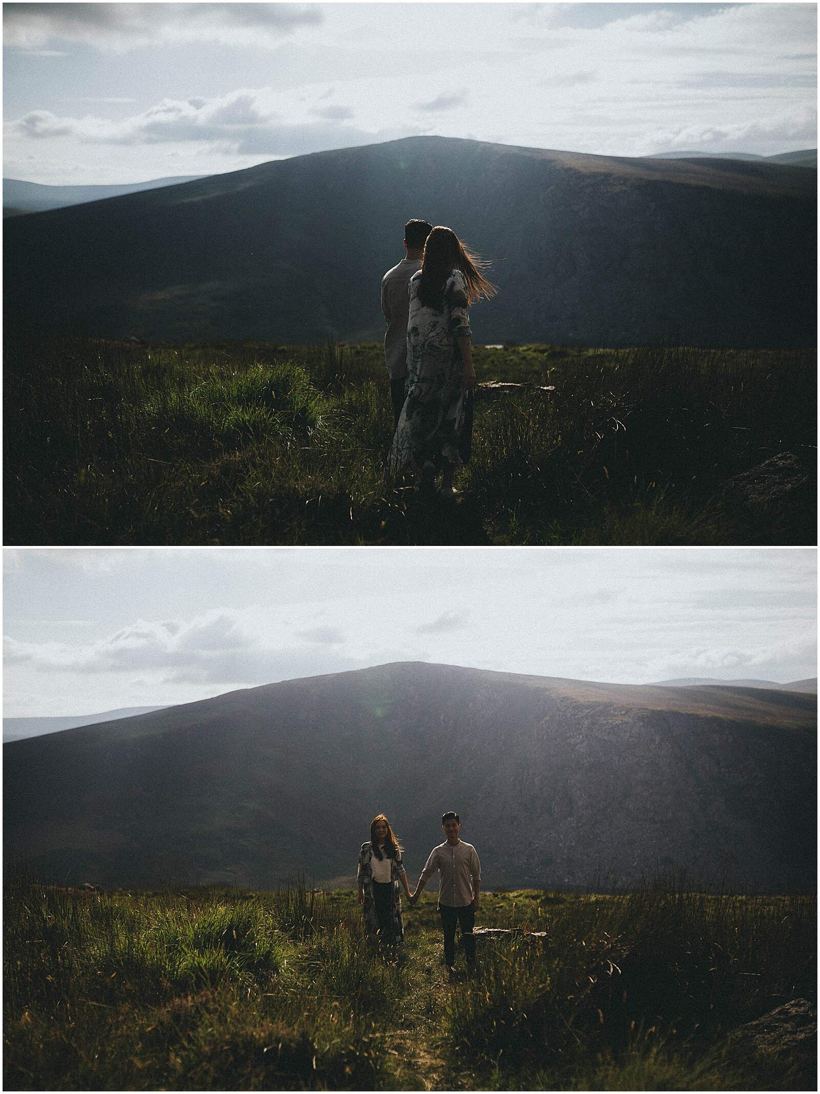 Gloria and Kevin relaxed beautiful natural engagement shoot in wicklow by irish wedding photographer johnny corcoran photography 0302 - Fun and Relaxed wedding and elopement photography in Ireland, perfect for adventurous and outdoorsy couples