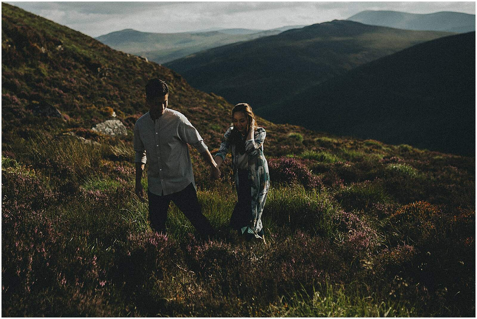 Gloria and Kevin relaxed beautiful natural engagement shoot in wicklow by irish wedding photographer johnny corcoran photography 0308 - Fun and Relaxed wedding and elopement photography in Ireland, perfect for adventurous and outdoorsy couples