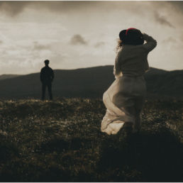 First look Hiking Elopement in Donegal Ireland