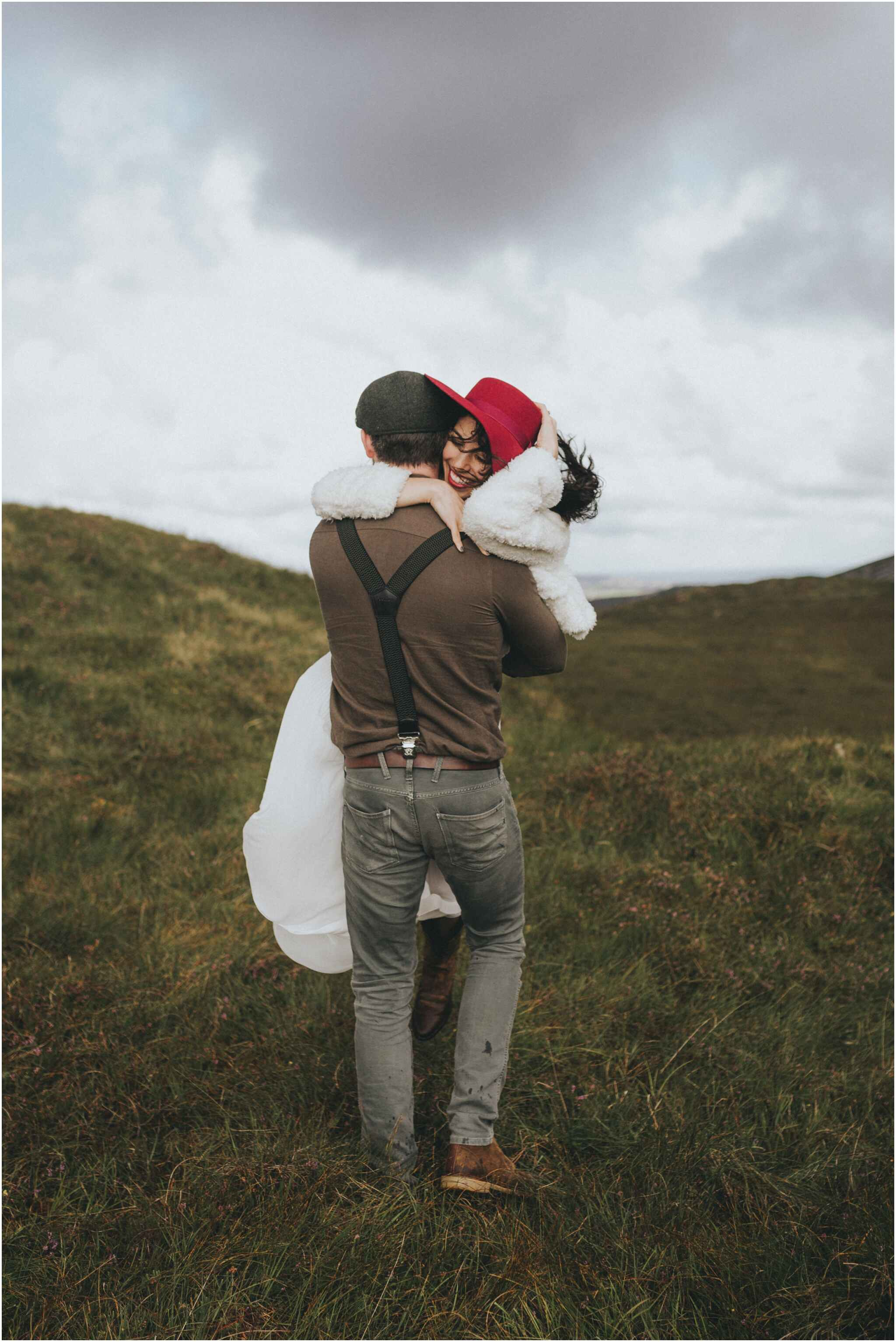 Happy and relaxing elope in Donegal mountains