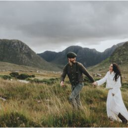 First look Hiking Elopement in Donegal Ireland 0065 uai - Fun and Relaxed wedding and elopement photography in Ireland, perfect for adventurous and outdoorsy couples