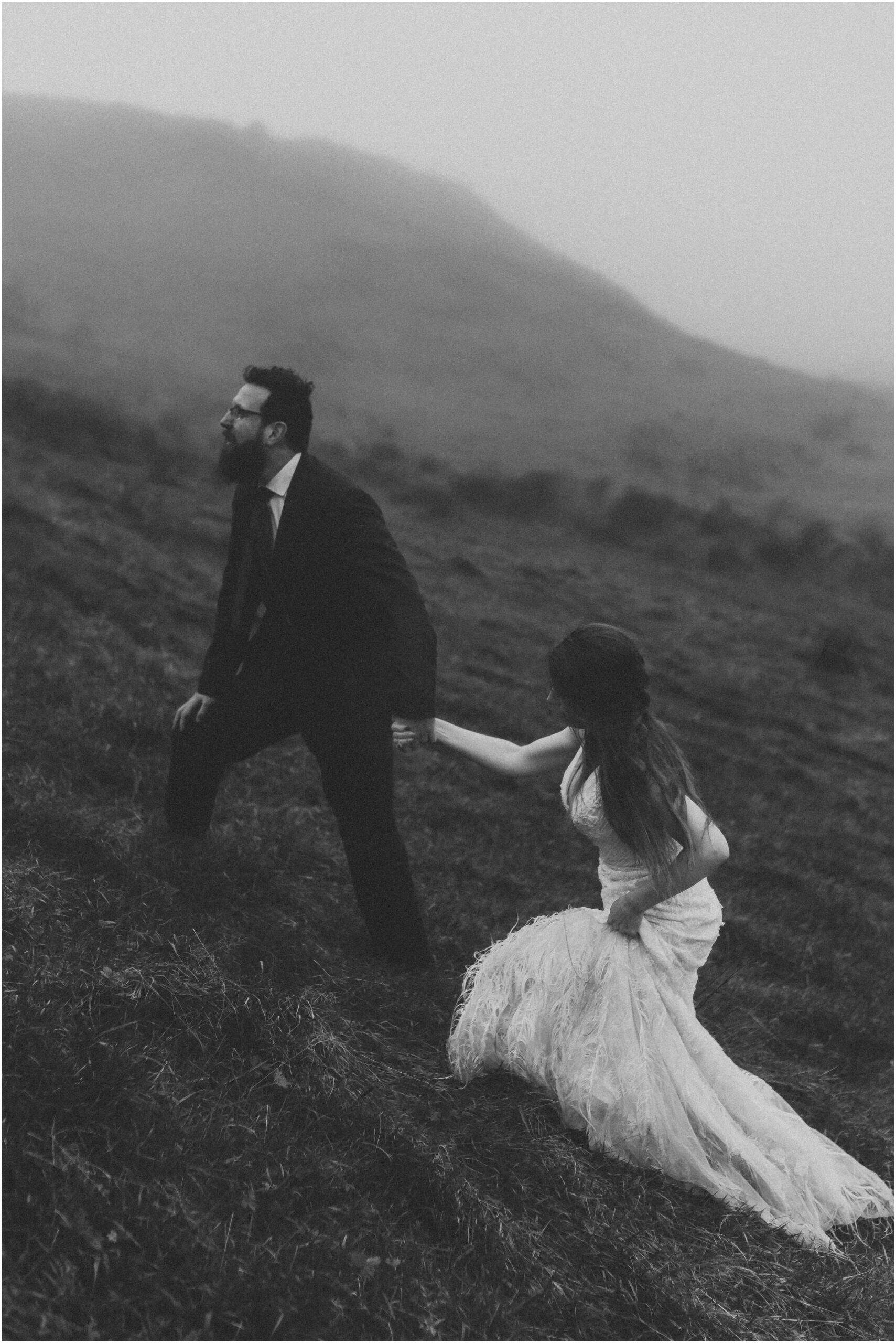 Dancing in the wind near the cliff of moher. This elopement was timeless and I will cherish having documented such a beautiful connection. These intimate elopement photos embrace the weather of Ireland and show the spirit of elopements.