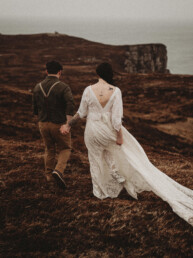 Hiking elope horn head donegal elopement reland