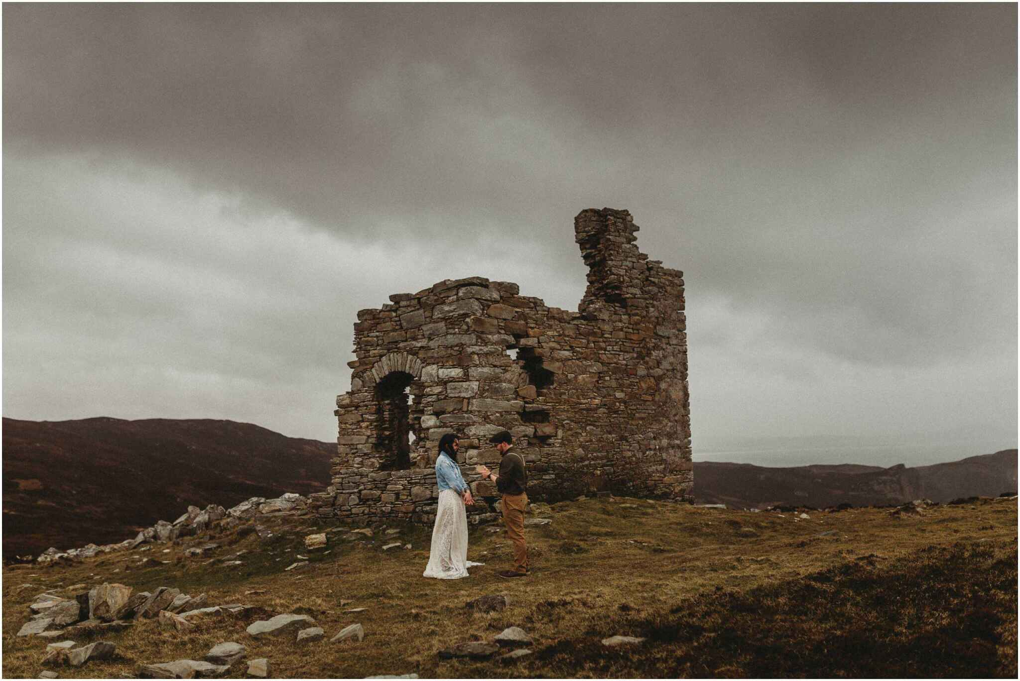 Elopement horn head donegal irish wedding photography 00044 - Fun and Relaxed wedding and elopement photography in Ireland, perfect for adventurous and outdoorsy couples