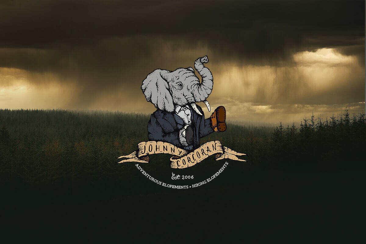johnny corcoran photography elephant shoe logo