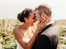 happy couple eloping in ireland